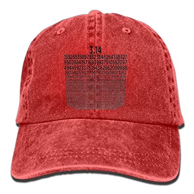 ElephantAN Men Women PI 3.14 Adjustable Vintage Baseball Caps Washed Cowboy Dyed Denim Hat Unisex