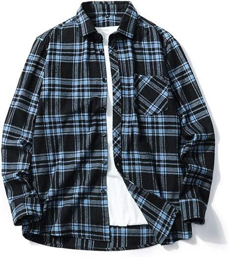 DZOUP Hombre Camisas de leñador a Cuadros Casuales Manga Larga de Vestir Shirt Camisa con Botones: Amazon.es: Deportes y aire libre