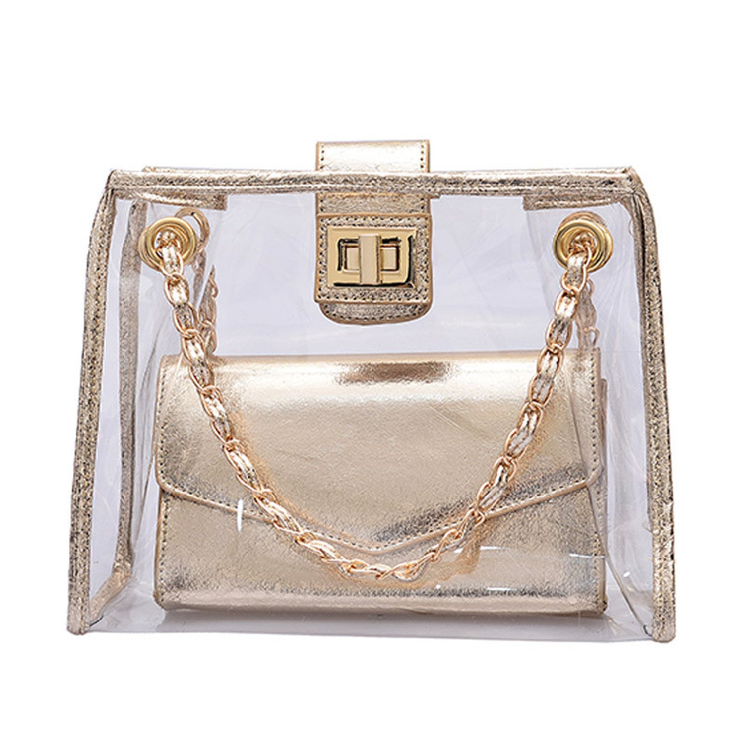 Amazon.com: Melissa Wilde Transparent Laser Women Shoulder ...