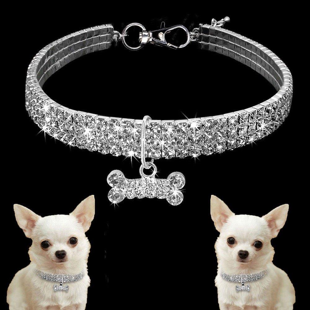ZYUEER Dog Collar,Cat Pupplies Cute Mini Pet Bling Rhinestone Chocker Collars Fancy Necklace