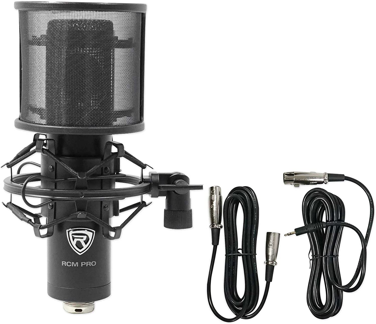 Desk Stand//Boom Rockville RCM PRO Studio//Recording Podcast Condenser Microphone