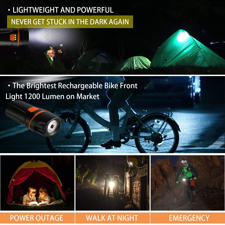 Mini USB Rechargeable Bike Light en Achort Front Headlight Bicycle LED