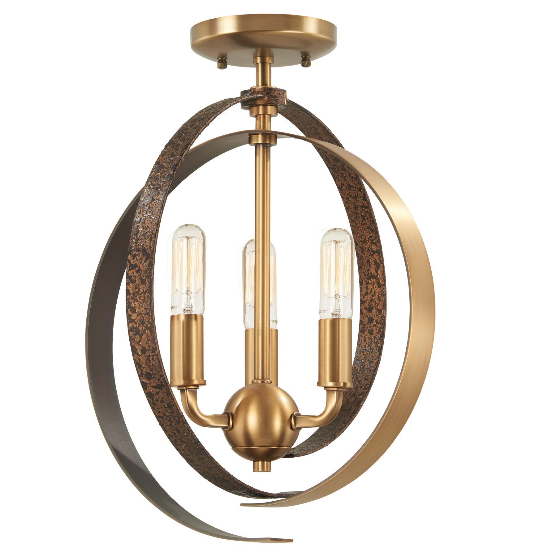 Minka Lavery Pendant Ceiling Lighting 4622-099 Criterium, 3-Light 180 Watts, Aged Brass