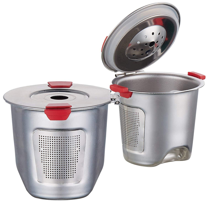 Reusable k Cups For Keurig 2.0 & 1.0 Coffee Machines Universal Stainless Steel Reusable Keurig Filter keurig Not Compatible K55 100% BPA-Free (2PC)
