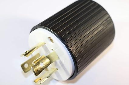 l14 30p generator plug electric plugs amazon com 4 Wire Generator Wiring image unavailable