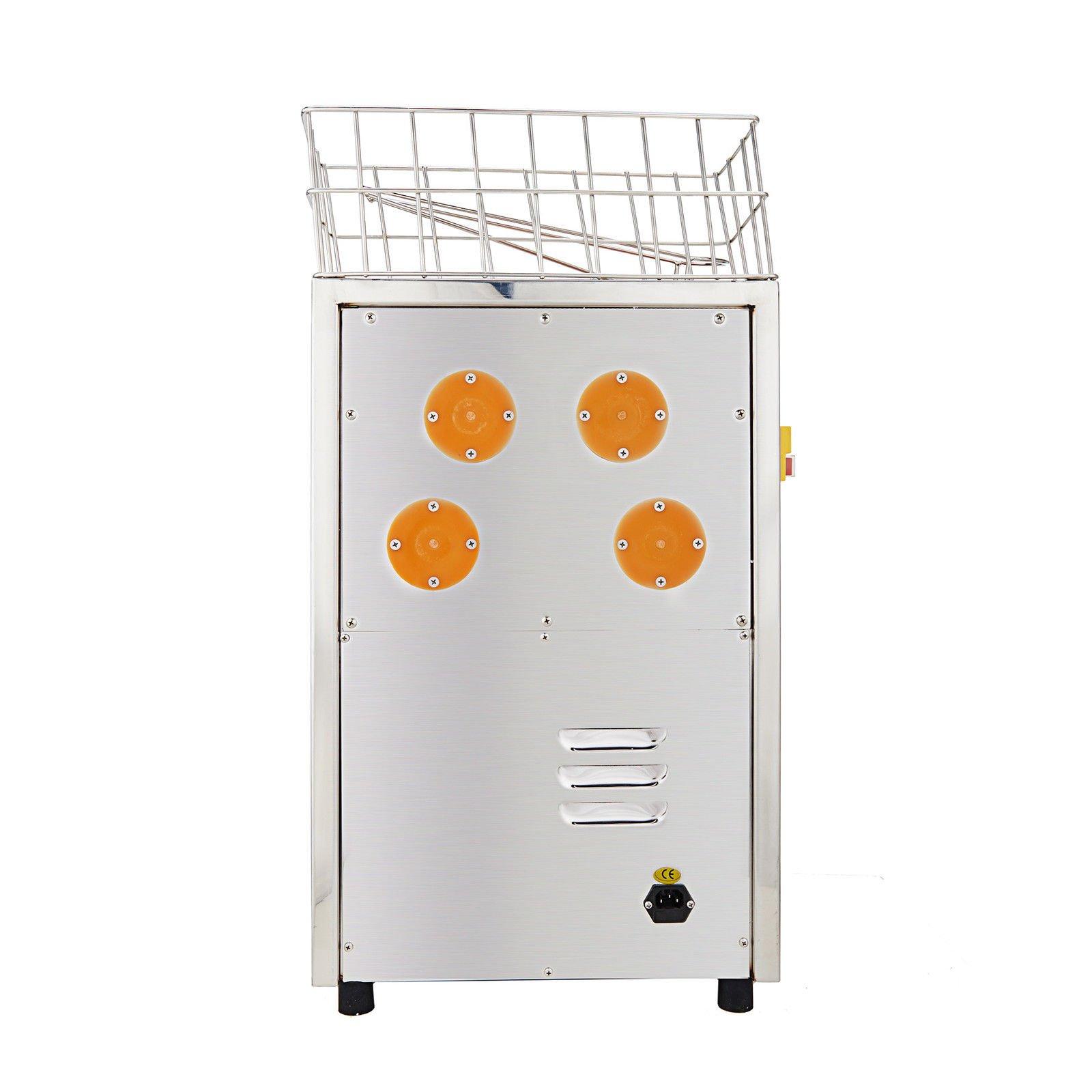 Happybuy Orange Juicer Orange Squeezer Machine Citrus Juicer Electric Fruit Juicer Machine Citrus Lemon Lime Automatic Auto Feed Commercial (Stainless Steel tank) by Happybuy (Image #4)