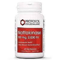 Protocol For Life Balance - Nattokinase 100 mg - 2,000 Fibrinolytic Units of Enzyme...