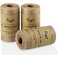Fuyit Tuinkoord, jutekoord, 3 stuks, natuurlijk tuinkoord, jute, knutselkoord, decoratiekoord voor doe-het-zelf…
