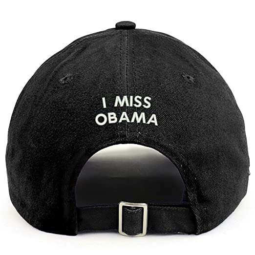 Trendy Apparel Shop I Miss Obama (Back) Embroidered 100% Cotton Dad Hat - 7e2ab385b3c8