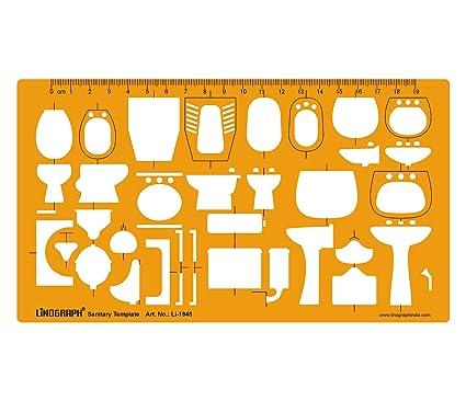 amazon com architectural sanitary template plumbing fixtures