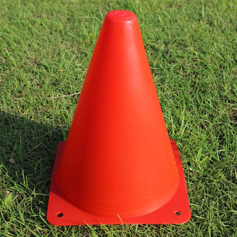 5 Colours 10pcs Yangyme Sport Cones Space Marker Traffic Cone Set Plastique de Football de Ballon Entra/înements pour Gym Accueil Football Training Enfants