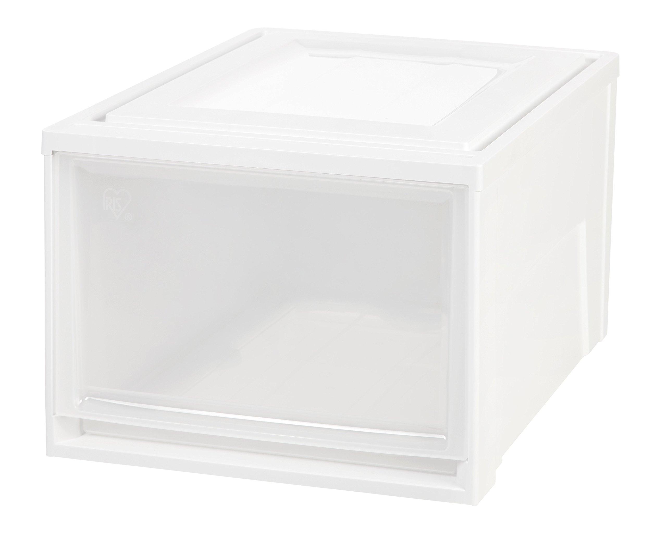 IRIS Deep Box Chest Drawer, White, 3 Pack by IRIS USA, Inc.