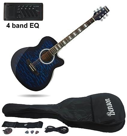 Guitarra eléctrica semi-acústica «Matt Satin» de tamaño grande de Benson (Blueburst