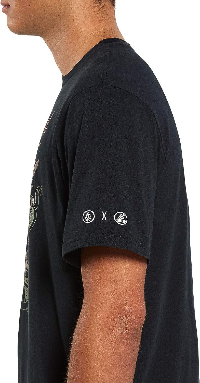 Volcom Mens PangeaSeed Short Sleeve Tee Black