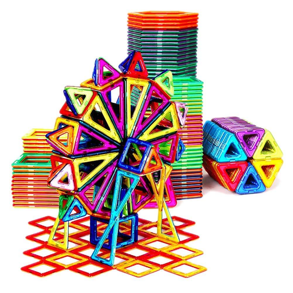 310 pieces Magnetic piece building block Blocs de Construction de pièces magnétiques Puzzle magnétique Jouets pour Enfants Aihommet Aihommet Pierre garçon 3-6-10 Ans boîte de RangeHommest de pièce magnétique Pure