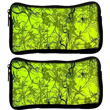 Snoogg Pack De 2 Verde Diseño de patrón de tela funda ...