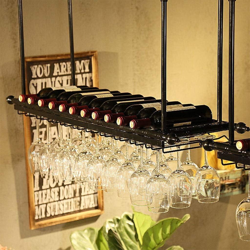 ワインホルダーワインラックワイン無料立ち折りたたみ木製の赤ワインホルダーラックボトルワインはキッチンバーの表示棚をスタンドラック L20.02.05 (Color : Black, Size : 60*30cm)