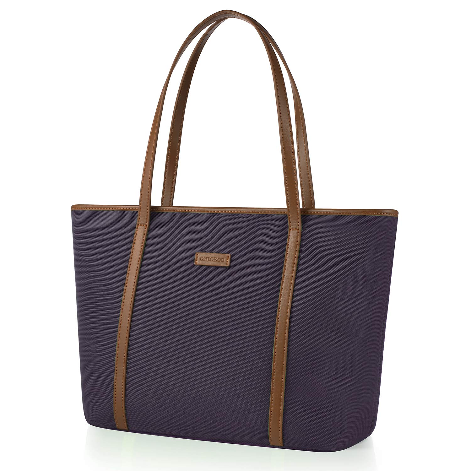 New Edition CHICECO Extra Large Tote Bag for Women with Exterior Pocket - Mysterious Purple