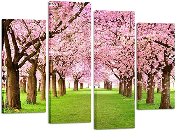 Beautiful Handmade Blossom Tree Framed Art Piece Pink Wooden Tree with Paper Flowers