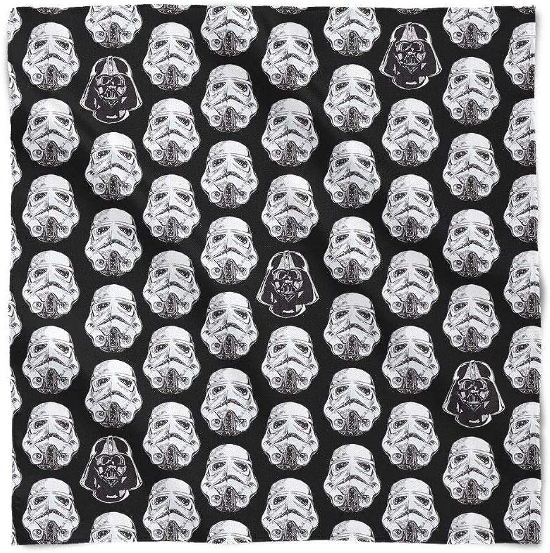 Vader & Storm Trooper Helmets Star Wars Inspired Satin Style Scarf