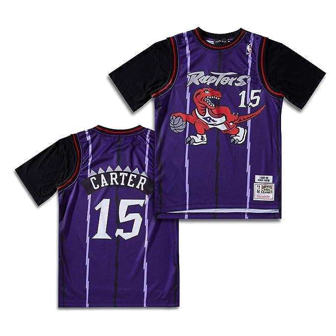 Toronto Raptors Vince Carter 15# Hombres Jersey Retro Hombre/Mujer ...