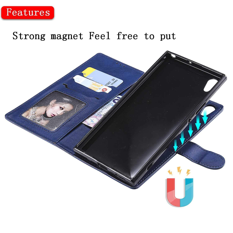 Blu Bear Village/® Custodia Premium Flip Custodia per Sony Xperia XA1 Ultra Cover Sony Xperia XA1 Ultra Custodia con Porta Carte e Chiusura Magnetica