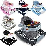 3IN1 Lauflernhilfe / Babyschaukel mit Spielcenter (12 Melodien) und Einlage