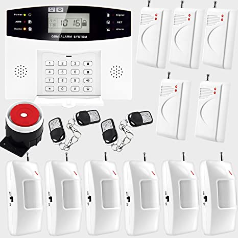 Voz inalámbrico GSM casa antirrobo autollamador PIR Sensor ...