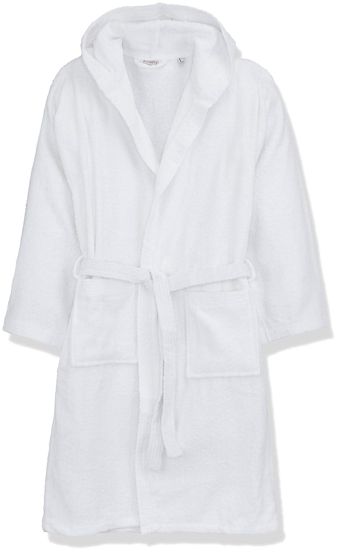 Funity Colours Albornoz Rizo, 100% algodón, Blanco, L