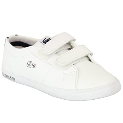 67228f9e49 Boys  Lacoste Trainers MARLBB White Red Navy UK 8I  Amazon.co.uk ...