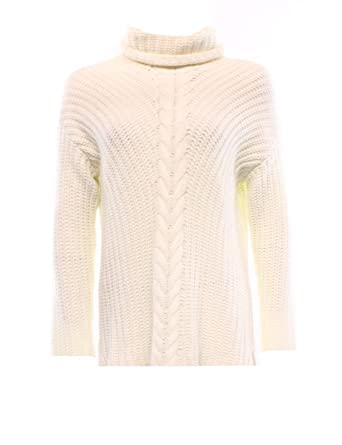 Kensie Womens Cable Knit Cowl Neck Pullover Sweater Ivory L at ...