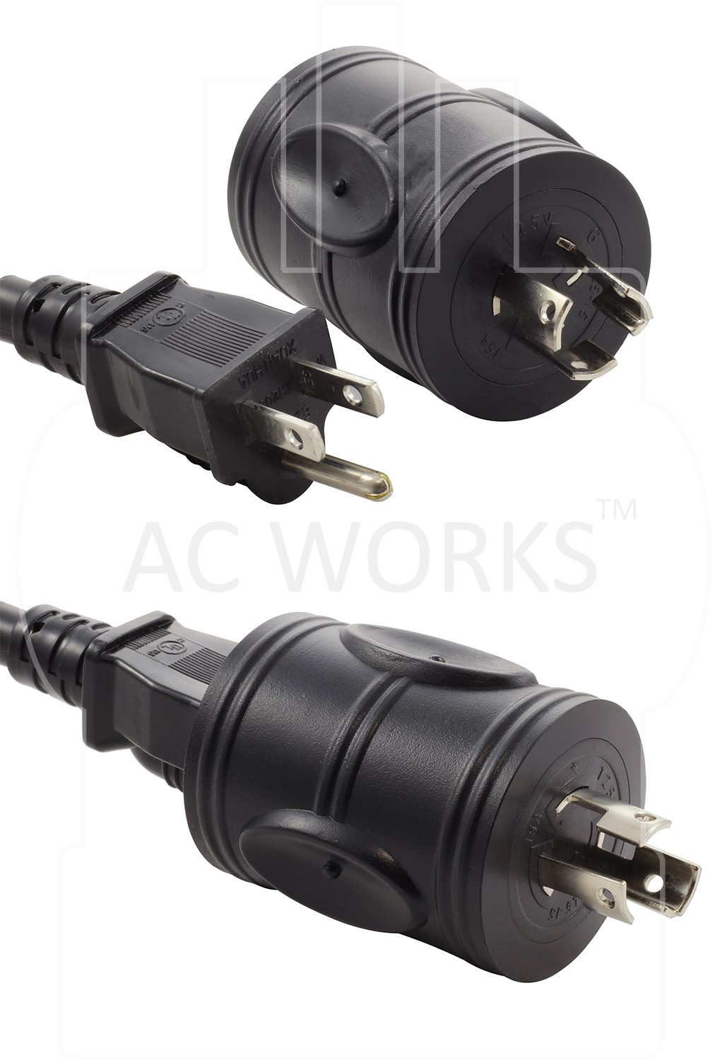 AC WORKS [ADL515520] Locking Adapter NEMA L5-15P 15Amp Locking Plug to Househole 15/20Amp Connector by AC WORKS (Image #3)