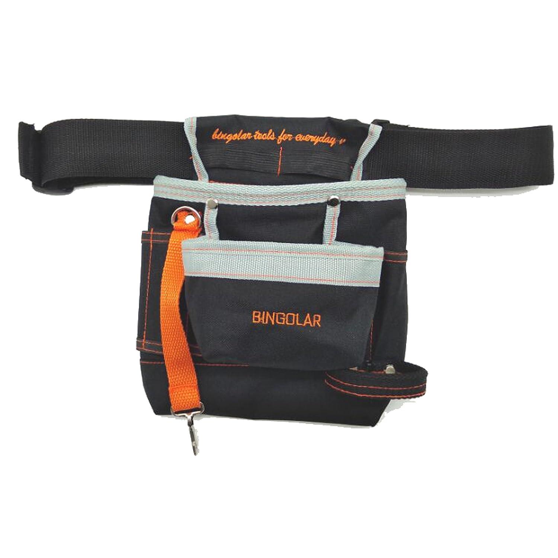 Bingolar Outil Sac avec ceinture pour manuel électricien Outil Pochette avec sangle de taille réglable, Ziptop Utility Pouch Organiseur Outil électrique outils rigide et résistant à l'usure JH2017011091BG