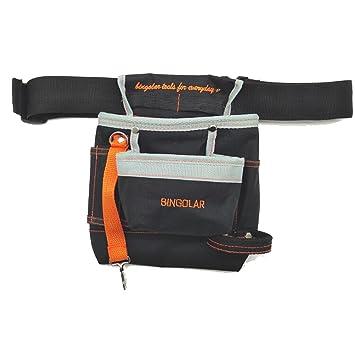7992cfbc87340 Bingolar Outil Sac avec ceinture pour manuel électricien Outil Pochette  avec sangle de taille réglable, Ziptop Utility Pouch Organiseur Outil ...