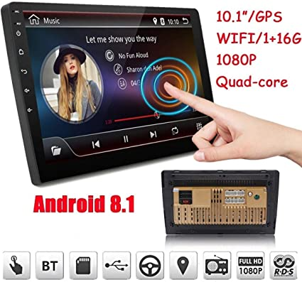 2019 Double Din Car Stereo,Android 8.1 Car Radio Stereo Audio Eonon 10.1 Inch Double Din, Quad-Core 16 ROM, Car GPS Navigation Head Unit,Support ...
