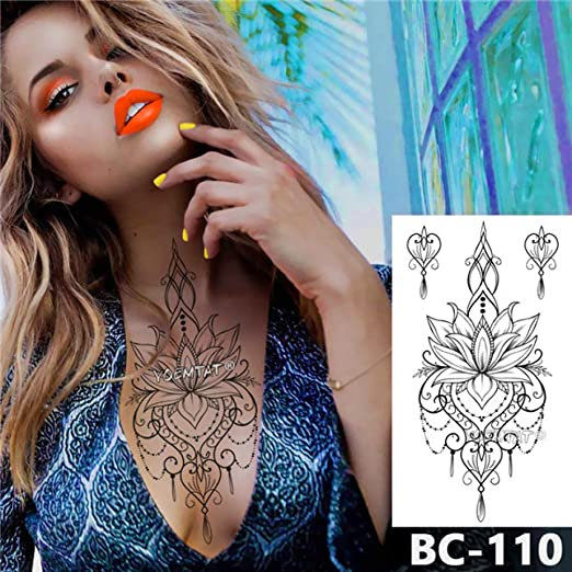 Handaxian 3pcsPecho Cuerpo Tatuaje Impermeable joyería murciélago ...