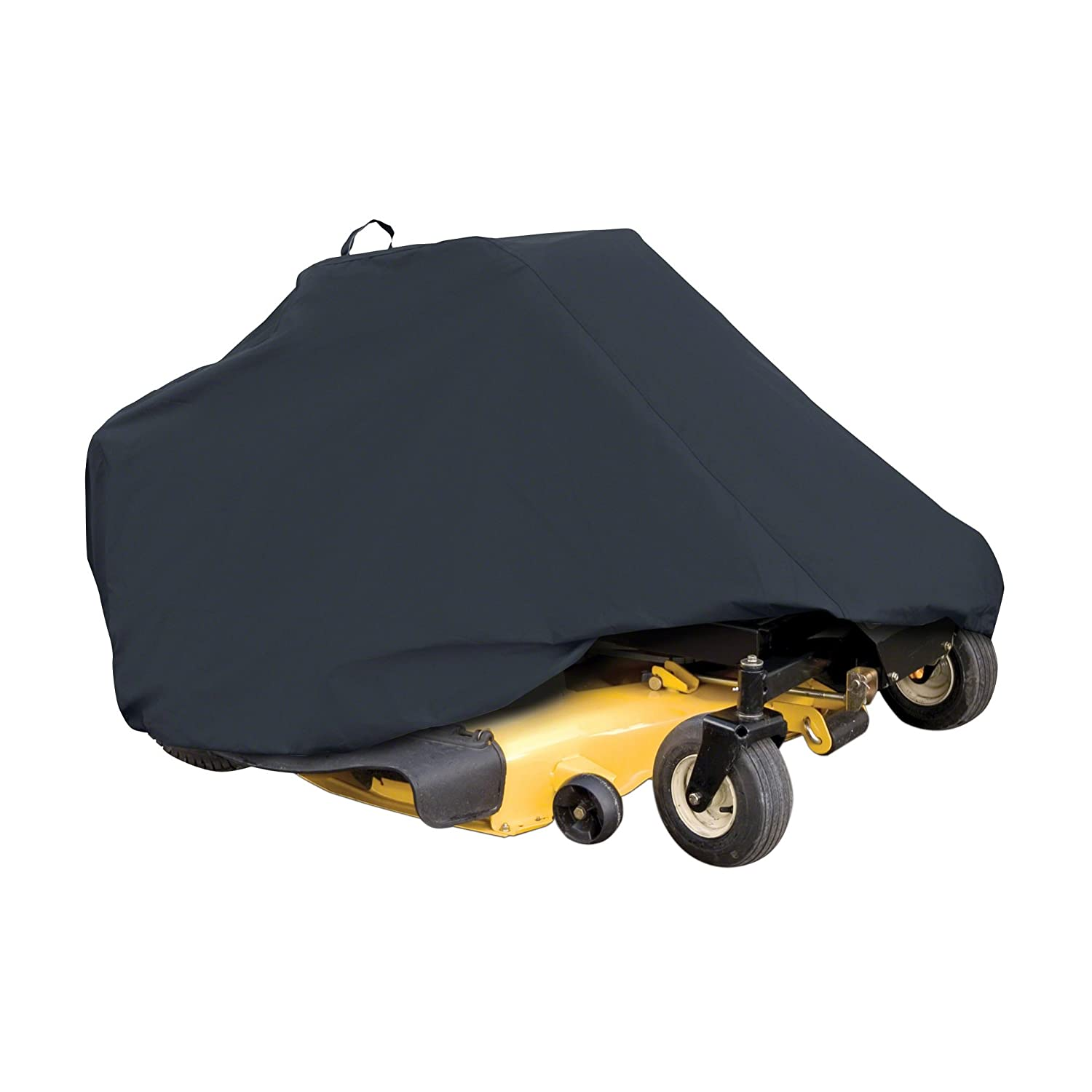 Classic Accessories 52-150-040401-00 Zero Turn Riding Mower Cover, Black, Up to 60 Decks Up to 60 Decks