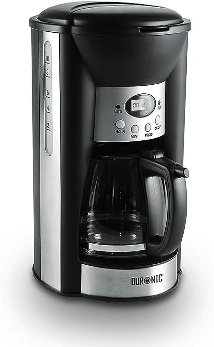Duronic CM125 Cafetera de Goteo 1000W Programable 1,25 L - Máquina Café, Filtro Reutilizable, 10 Tazas de Café, Placa Calentadora y Jarra de Cristal: Amazon.es: Hogar