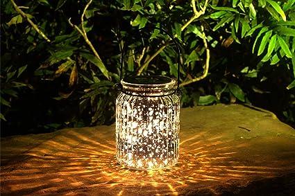 Voona 2 Pack Solar Mercury Glass Jar Hanging Outdoor Light For Garden  Decorations Outdoor Decor
