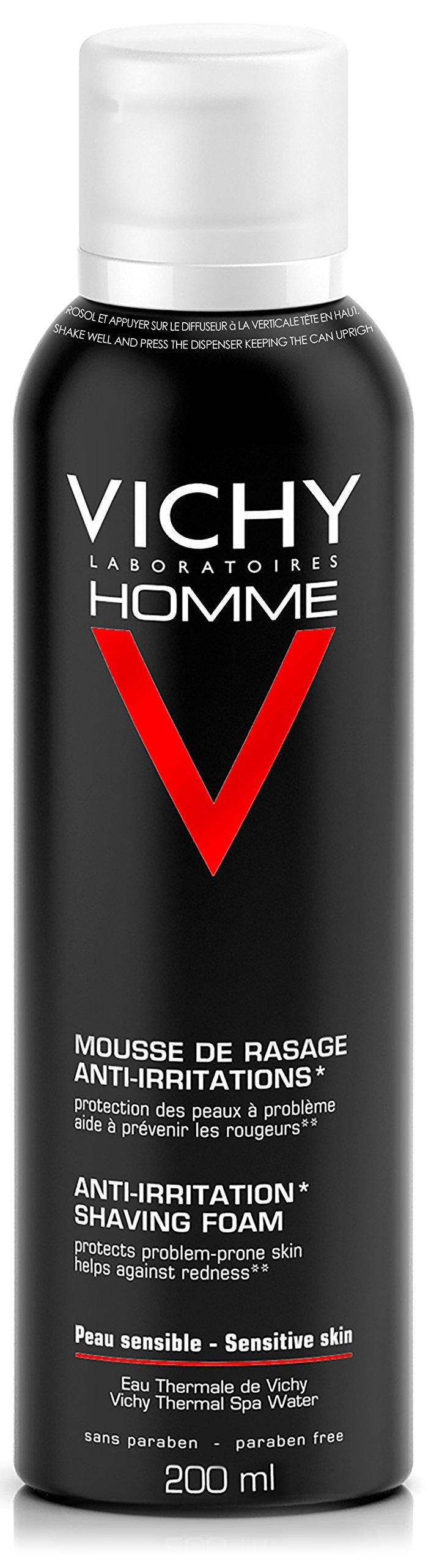 Vichy Homme Anti-Irritation Shaving Foam, 7.06 Oz.