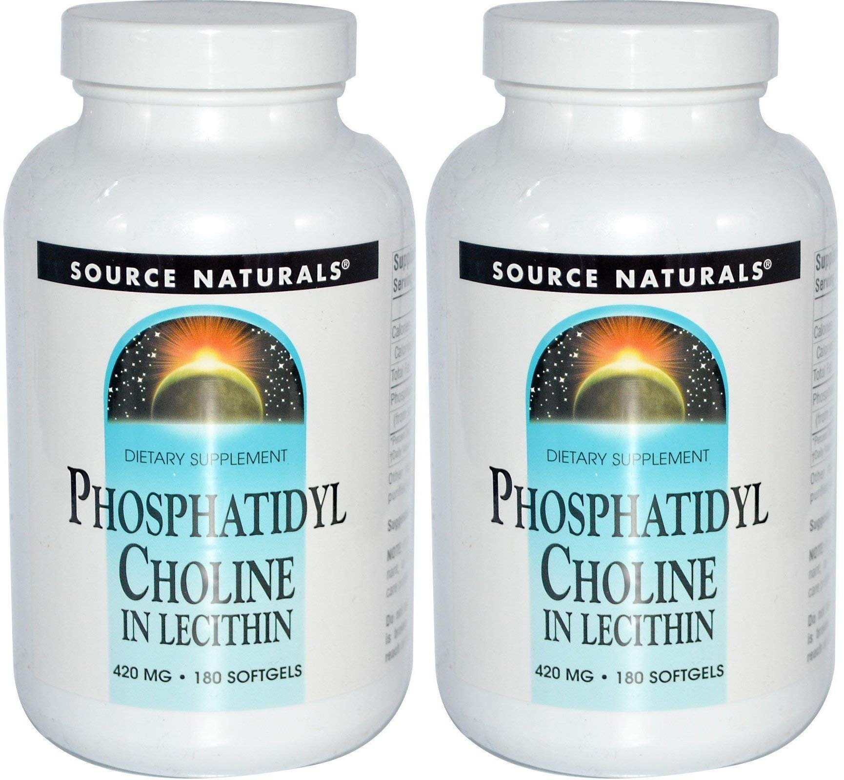 Source Naturals Phosphatidyl Choline (Pack Of 2), In Lecithin, 420 Mg, 180 Softgels by Natural Beauty Planet