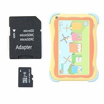 DURAGADGET Tarjeta de Memoria Micro SD HC 16 GB + Adaptador para Tablet Infantil YUNTAB Q91