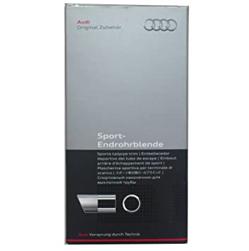 Embellecedor para tubo de escape deportivo Audi, color plateado mate (8P0071771A): Amazon.es: Coche y moto