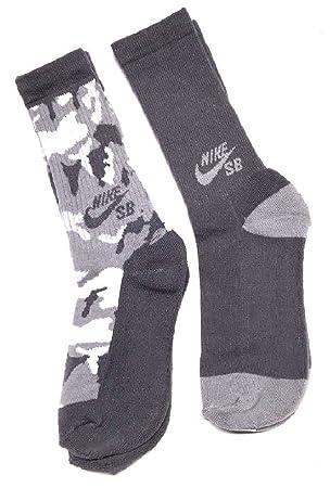 Nike BOYS 2-Pack SB Crew Calcetines juventud tamaño mediano camuflaje: Amazon.es: Deportes y aire libre