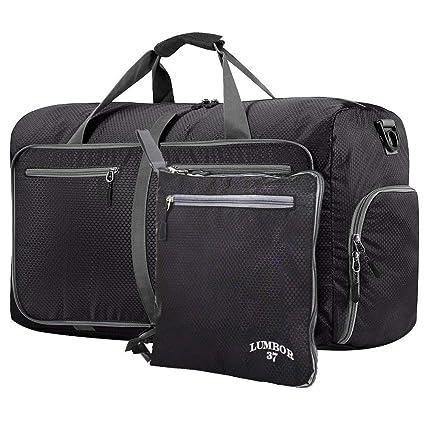 Lumbor37 Bolsa de Viaje y Deporte de Lona Plegable Mochila Unisex ... 923af65057dac
