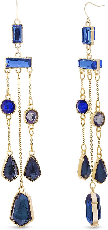 CATHERINE MALANDRINO Multi Colored Chandelier Earrings for Women
