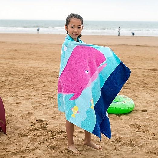 Amazon.com: Boys Girls Beach Towel Kids Children 100% Cotton Bath Towel Bathrobe Blanket: Clothing