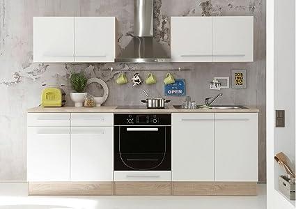 AVANTI TRENDSTORE - Bomi - Cucina in laminato di quercia Sonoma e ...