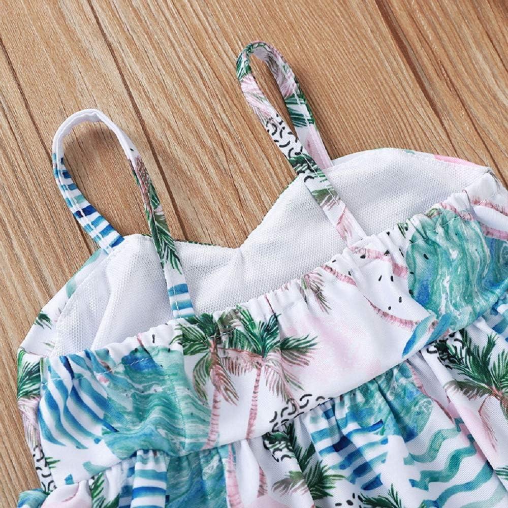 Yoveme Toddler Little Baby Girls Bikini Swimsuit Cute Polka Dot Bikini Set Swimwear Beachwear with Headband Black 2-6T