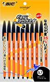 ビック 油性ボールペン オレンジ 0.7 黒 10本 OR07BLK10P